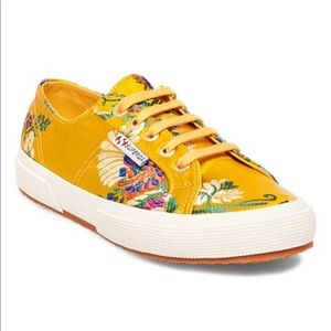 Superga Mustard Embroidered Sneaker Size 9